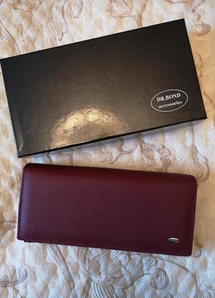 Женский кожаный кошелёк dr.bond