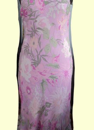 Шелковое платье- миди ralph lauren