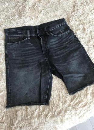 Мужские черные джинсовые шорты h&m