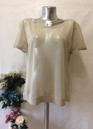Золотистая базовая футболка h&m