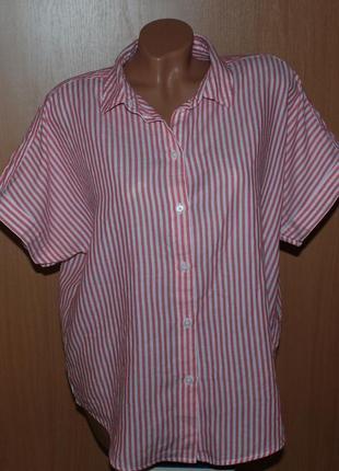 Блуза принтованая бренда h&m  / 100%хлопок /свободный покрой/