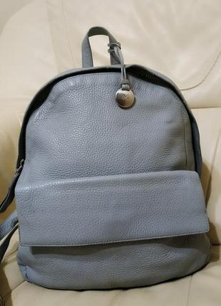 Фирменный кожаный рюкзак  skagen. дания