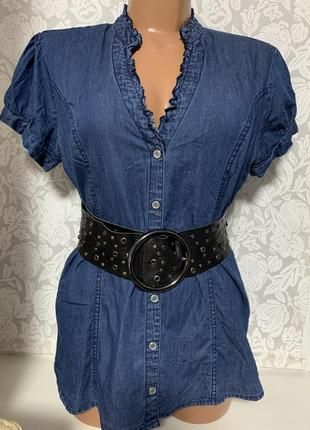 Джинсовая блузка guess