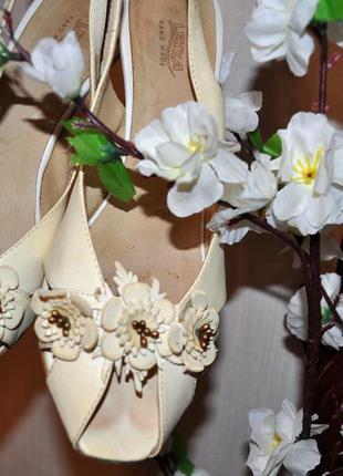 Нарядные босоножки, туфли, натуральная кожа