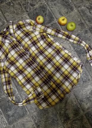 Рубашка в клетку 100% хлопок h&m logg