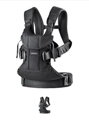 Рюкзак-кенгуру baby carrier one black mesh, черный - babybjorn