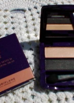 Двухцветные тени для век the one colour match  оттенок чёрная жемчужина