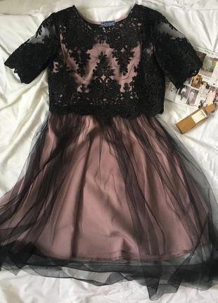 Красивое платье со съемным верхом
