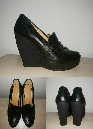 Лоферы 42 р туфли платформа