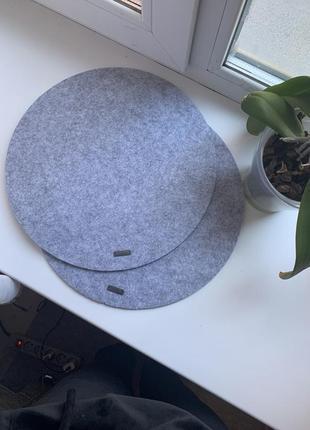 Подставки коврики под горячее или тарелки из войлока