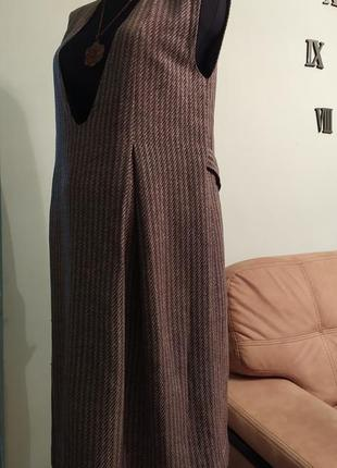 Теплый твидовый сарафан платье для беременных