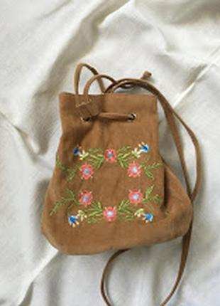 Сумка-мешок с цветами2 фото