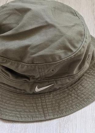 Трекинговая панама шляпа  унисекс цвета хаки nike оригинал