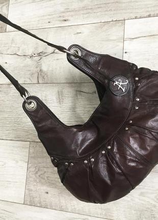 Сумка женская на плечо натур. кожа accessorize