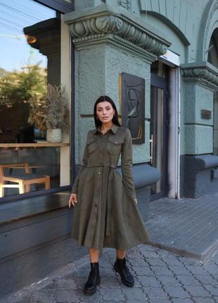 Идеальное замшевое платье «мэри»