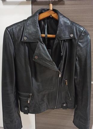 Новая кожанная куртка косуха + сумка в подарунок
