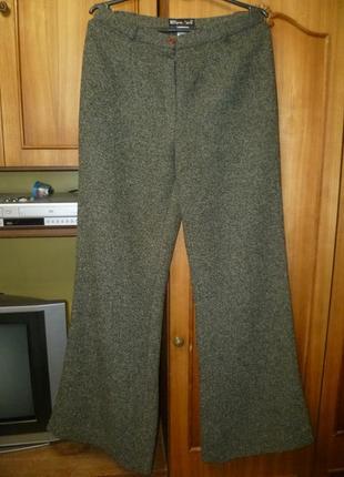 Винтажные теплые штаны-кюлоты,женские брюки клеш с высокой посадкой осень/зима