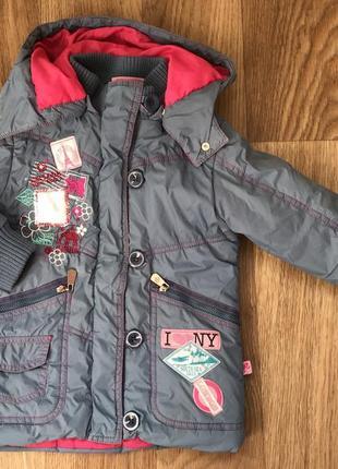 Куртка курточка демисезонная на девочку 4-6 лет barbie