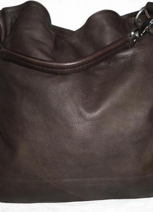 Стильная большая сумка натуральная кожа италия2 фото