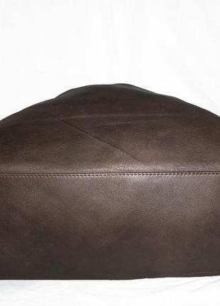 Стильная большая сумка натуральная кожа италия3 фото