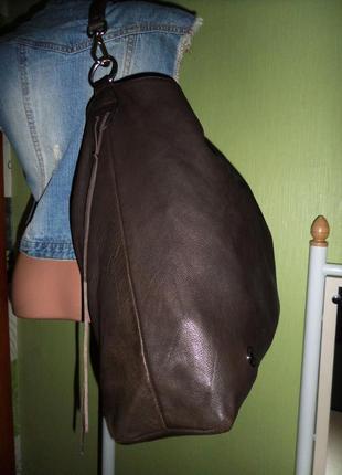 Стильная большая сумка натуральная кожа италия5 фото
