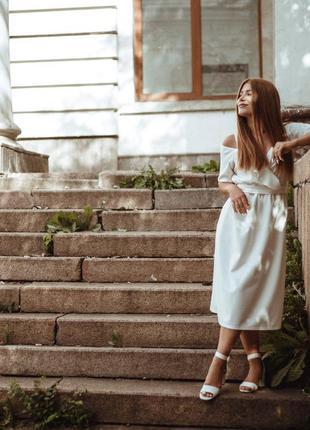 😍😍потрясное белое платье 😍😍