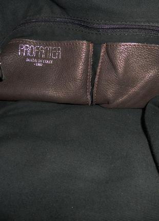 Стильная большая сумка натуральная кожа италия7 фото
