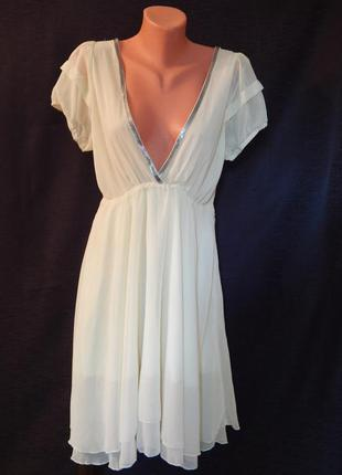 Нежное платье цвета шампань от аtelier 61 (размер 12)