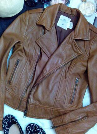 Натуральная кожаная куртка косуха 100% кожа