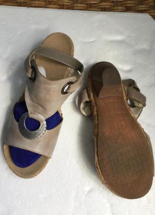 Босоножки кожаные riekerна ср и шире ногу