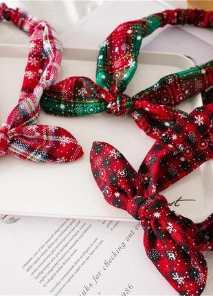 Повязки для волос новогодние 2021 повязки пов'язка для волосся різдвяна