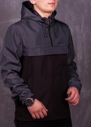 Комплект анорак president серо-черный + штаны president + в подарок барсетка!