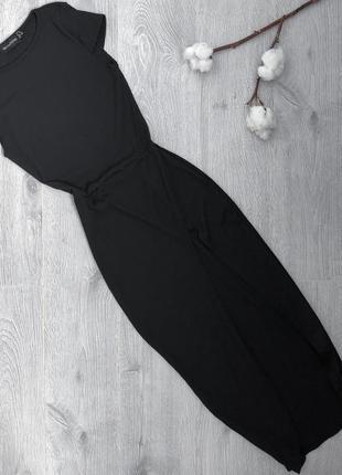Туника платье с вырезом в мелкий рубчик