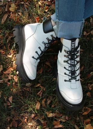 Женские ботинки кожа, замша