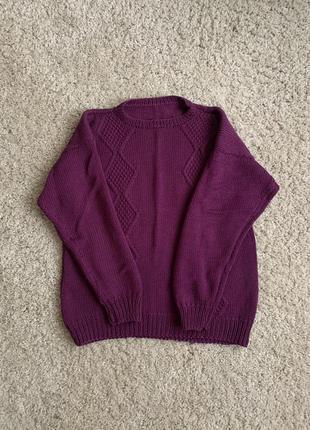 Теплий в'язаний светр тёплый вязаный свитер кофта скидка знижка продам срочно