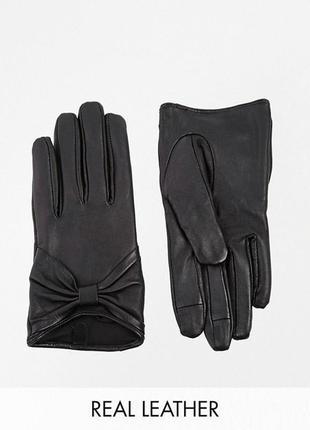 Кожаные перчатки asos 🖤на худенькую руку