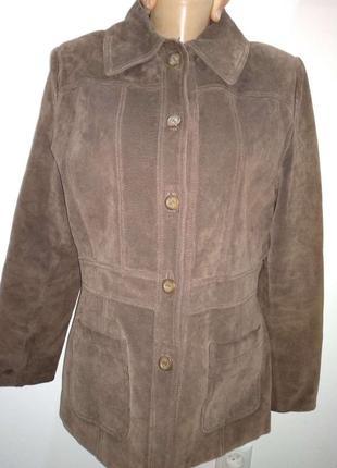 Стильная кожанная куртка/пиджак vera pelle