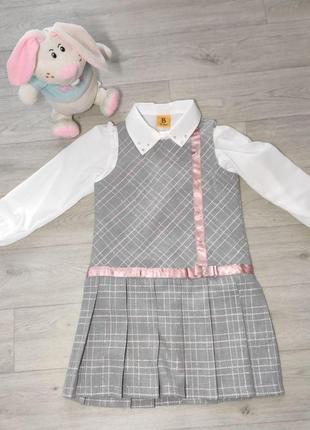 Платье школьное, рубашка, сарафан. турция. (5082)