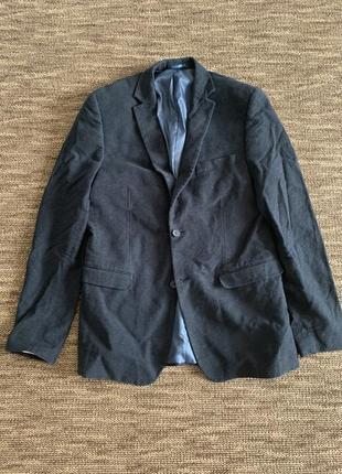 Синий пиджак мужской
