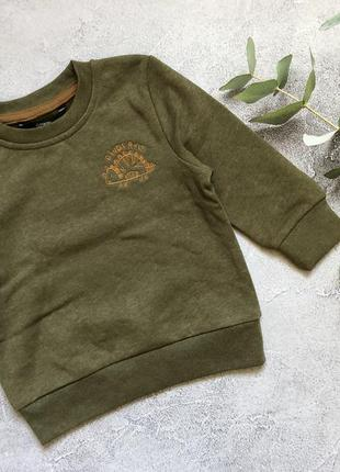 Кофта утепленная на флисе george 1-1,5-2-3 года, свитшот, реглан, худи, свитер