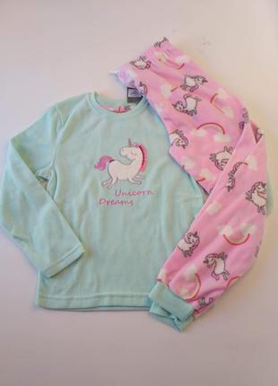 Флисовая пижама для девочек 134-152р