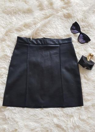 Мини юбка еко кожа