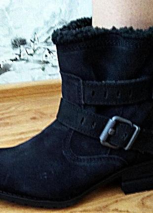 Ботинки зима,водоотталкивающая технология,антискользящая подошва,нат.нубук от cat,сша.