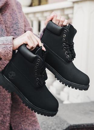 Timberland ботинки тимберленд термо черные