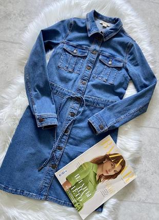 Джинсовка удлиненная  джинсовое платье
