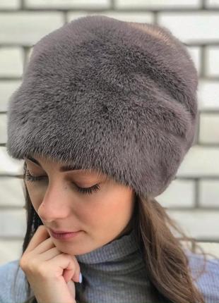 """Очень красивая меховая шапочка """"кубанка пион"""""""