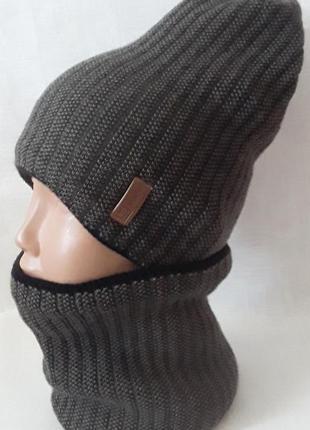 Детский и подростковый комплект (шапка и хомут)