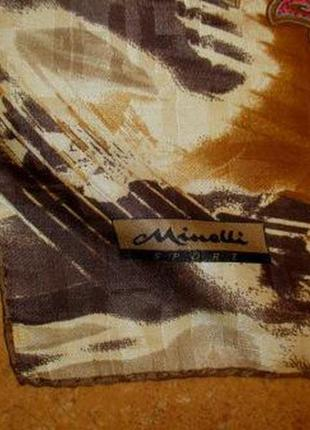 Коллекционный платок из натурального шелка minelli