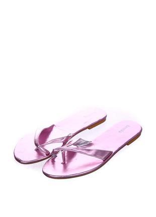 Розовые стильние летние вьетнамки bershka