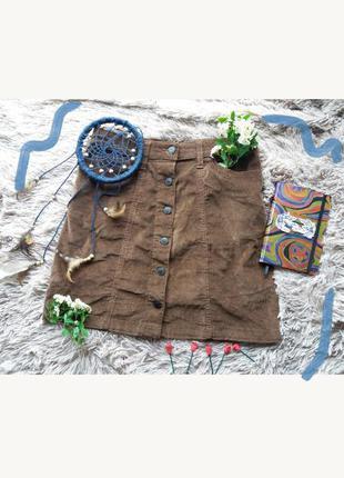 Вельветовая юбка на пуговичках